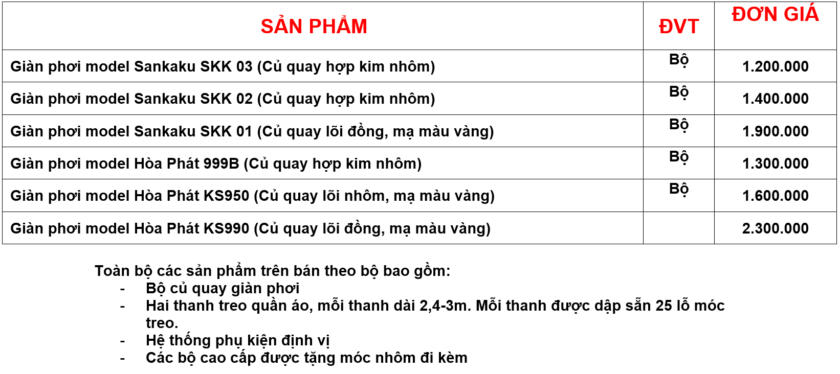 Bao gia cac san pham gian phoi thong minh cua cong ty TNHH Rem Cua Han Quoc